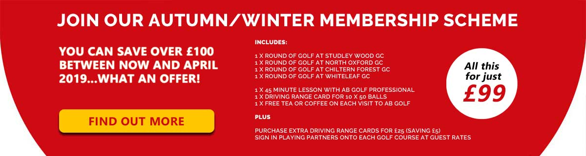Golf winter membership offer